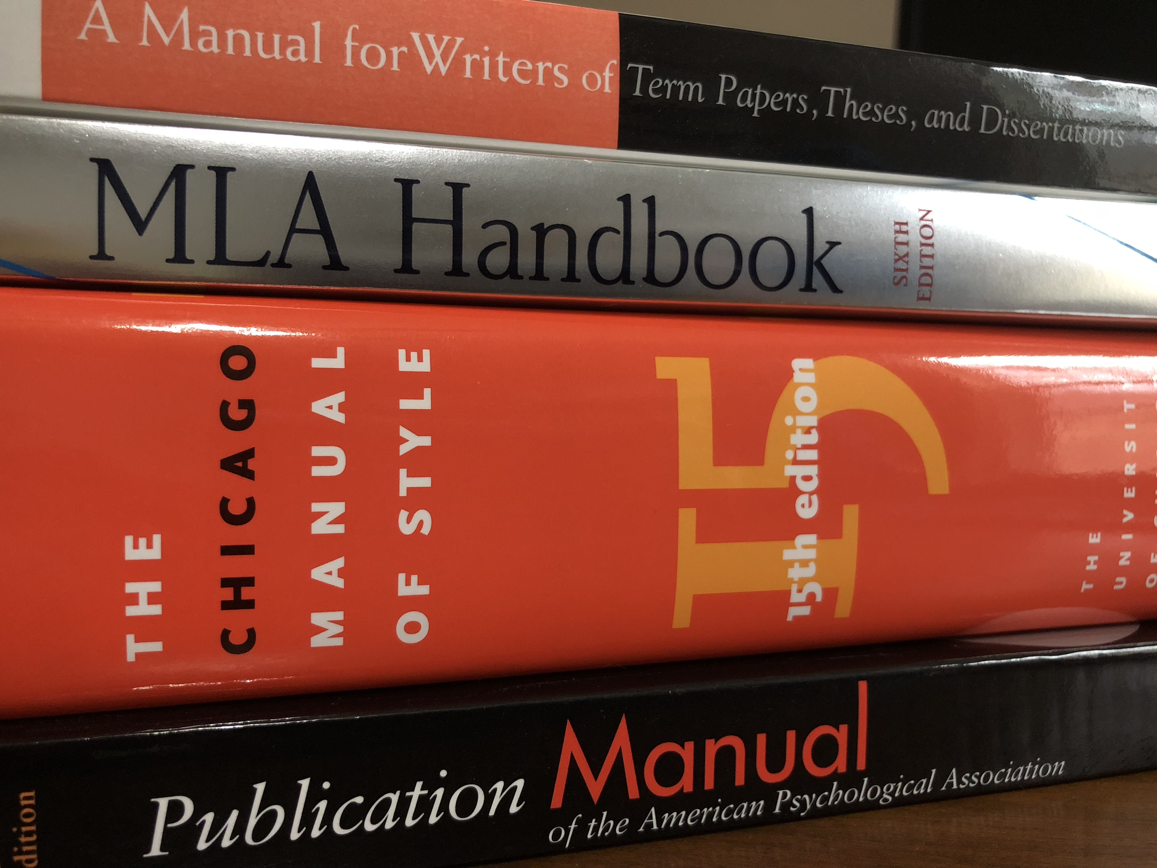 Academic Style Manuals and Guides